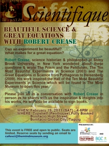 Cafe Scientifique: Beautiful Science and Great Equations with Robert Crease